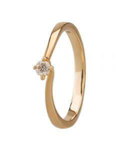 9ct Four Claw Twist Solitaire Certificated 0.10ct Ring R378010 Y