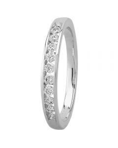 9ct White Gold 0.25ct Diamond Channel Set Half Eternity Ring SKR 5549