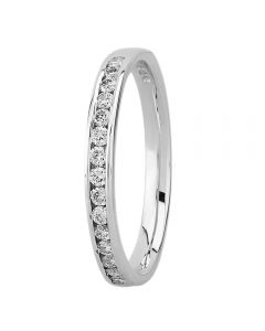 9ct White Gold 0.25ct Channel-set Half Eternity Ring 8991/9W/DQ1025