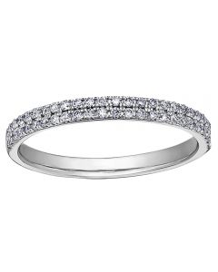 9ct White Gold 0.25ct Claw-set Diamond Two Row Half Eternity Ring 50K08WG/25-10