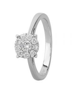 9ct White Gold 0.33ct Diamond Cluster Ring THR3146 -33