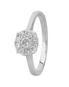 9ct White Gold 0.50ct Diamond Cluster Ring SKR2963-50