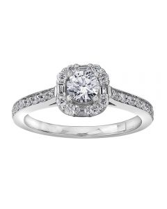 18ct White Gold 0.76ct Diamond Fancy Cluster Ring 3972WG/76-18 M