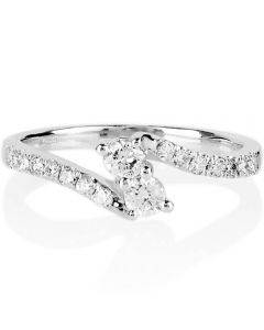 18ct White Gold 1.00ct Diamond Twin Twist Ring SKR15887-100