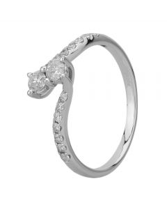 18ct White Gold 0.50ct Diamond Twin Twist Ring SKR15887-50