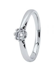 18ct White Gold Eight Claw Cathedral-Set Diamond Solitaire Ring (min 0.20ct) CR11065/18KW