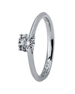 18ct White Gold Four Claw Cathedral-Set Diamond Solitaire Ring (min 0.50ct) CR11067/18KW/.50CT