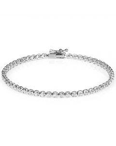 9ct White Gold 1.00ct Diamond Tennis Bracelet SKB15917-100 9ct