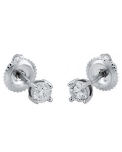 18ct White Gold Diamond 0.30ct Four Claw Diamond Stud Earrings 9150E030-18W