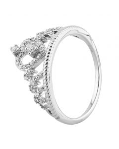 9ct White Gold 0.20ct Diamond Tiara Ring SKR23686-20