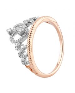 9ct Rose Gold 0.20ct Diamond Tiara Ring SKR23686-20