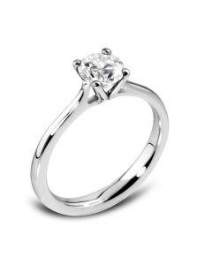 Platinum Round 4 Claw Ring RI-97(.25CT PLUS)