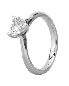 Platinum Heart-cut Diamond Solitaire Ring 2-F-2-F(0.70ct PLUS)-G/SI2/0.81ct