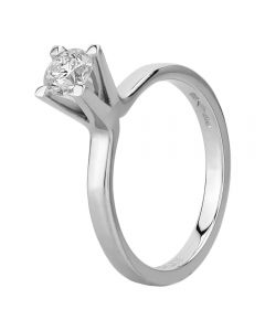 Platinum Tall Four Claw Diamond Solitaire Ring RI-1217(.50CT PLUS)