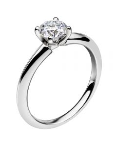 Mastercut Simplicity Four Claw 18ct White Gold Diamond Solitaire Ring C5RG001W