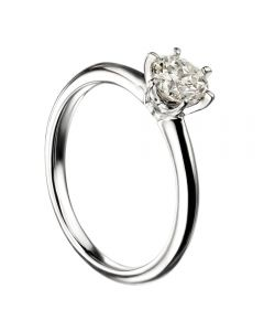 Mastercut Simplicity Six Claw 18ct White Gold Diamond Solitaire Ring C12RG001