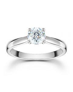 Mastercut Starlight 18ct White Gold Four Claw Diamond Solitaire Ring C10RG001