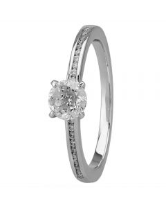 Mastercut Simplicity Four Claw Platinum 0.50ct Diamond Solitaire Ring C5RG007 050P M12841