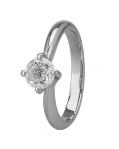 Mastercut Grace Platinum 0.75ct Four Claw Twist Diamond Solitaire Ring C13RG001 075P