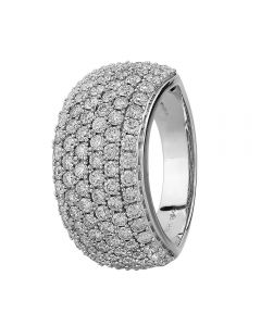 9ct White Gold 2.00ct Diamond Pavé Ring THR2910-200 9K