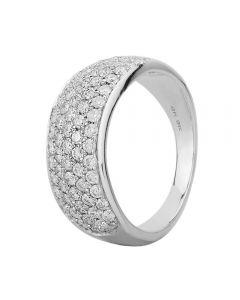 9ct White Gold 1.00ct Diamond Pavé Ring SKR2910-100 9KW