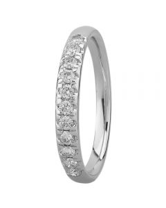 9ct White Gold 0.33ct Diamond Pavé Set Half Eternity Ring SKR15238-33TP