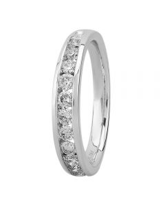 9ct White Gold 0.50ct Diamond Channel Set Half Eternity Ring SKR5588-50