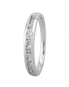 9ct White Gold 0.33ct Diamond Channel Set Half Eternity Ring SKR5588-33