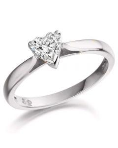 Platinum 1.77ct Heart-Cut Diamond Solitaire Ring SOL/HS/2141616C