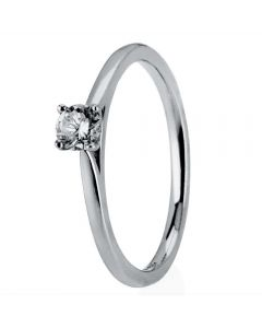 1888 Collection Platinum Four Claw Diamond Solitaire Ring RI-2016(UNDER 0.25ct)