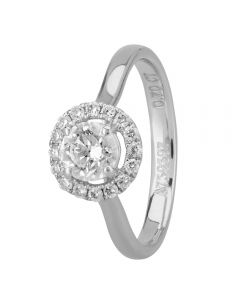 1888 Collection Platinum Certificated Diamond Floating Halo Cluster Ring DSR21(.70CT PLUS)