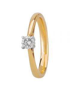 1888 Collection 18ct Gold Certificated Basket-set Diamond Solitaire Ring CR8-SA11(.25CT PLUS)