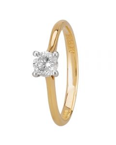 1888 Collection 18ct Gold Certificated Four Claw Diamond Solitaire Ring RI-141(.40CT PLUS)