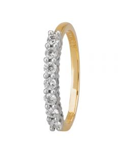 1888 Collection 18ct Gold Certificated Seven Stone Diamond Half Eternity Ring HET1014(.30CT PLUS)