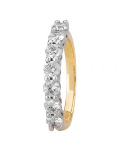 1888 Collection 18ct Gold Certificated Seven Stone Diamond Half Eternity Ring HET1014(1.00CT PLUS)
