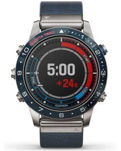 Garmin Marq Captain Titanium Blue Fabric Strap Watch 010-02006-07