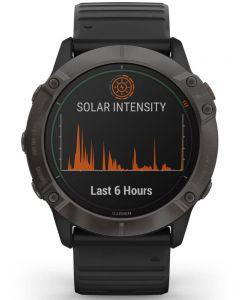 Garmin Fenix 6X Pro Solar Edition Black Rubber Strap Watch 010-02157-21