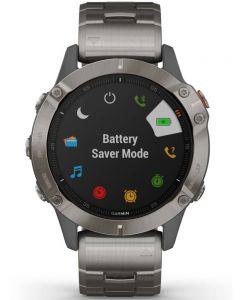 Garmin Fenix 6 Solar Sapphire Edition Grey Titanium Bracelet Watch 010-02158-23