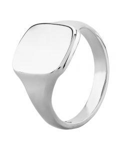 Sterling Silver 14x12mm Cushion Signet Ring YSG025H