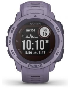 Garmin Instinct Solar Orchid Rubber Strap Watch 010-02293-02