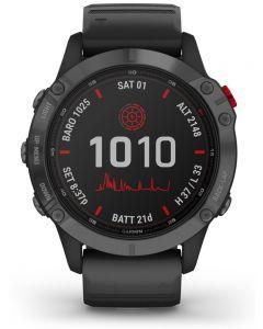 Garmin Fenix 6 Pro Solar Edition Black Rubber Strap Watch 010-02410-15