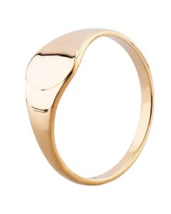 9ct Yellow Gold 8x7mm Oval Signet Ring YAL306H
