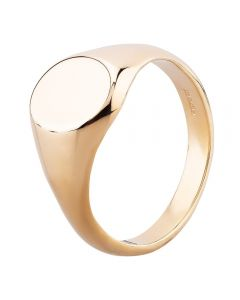 9ct Yellow Gold 11x9mm Oval Signet Ring YAL577H