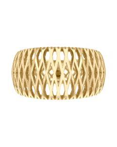 9ct Yellow Gold Criss-Cross Ring 1.83.5960 R