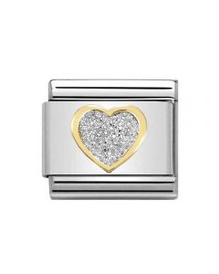 Nomination CLASSIC Gold Glitter Heart Charm 030220/02 *