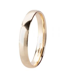 9ct Yellow Gold 3mm Light Court Wedding Ring BC1.0-3.09Y