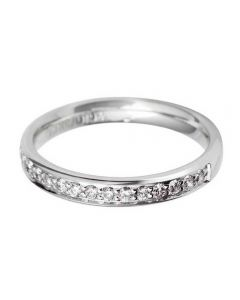 Platinum 3mm Grain Set Diamond Court Wedding Ring WG10/3R125PlaT HSI