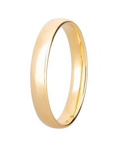 9ct Yellow Gold 3mm Ultra-Light Court Wedding Ring BC1.0-3.0 9Y