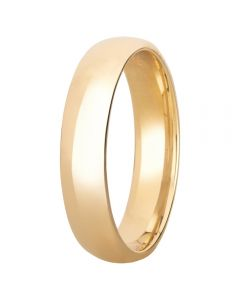 9ct Yellow Gold 5mm Court Wedding Ring BC5.0 9Y
