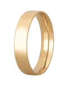 9ct Yellow Gold 6mm Flat Court Wedding Ring BFC6.0 9Y